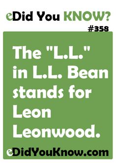 Leon Leonwood Bean