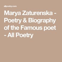 Marya Zaturenska
