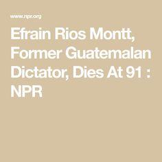 Efrain Rios Montt